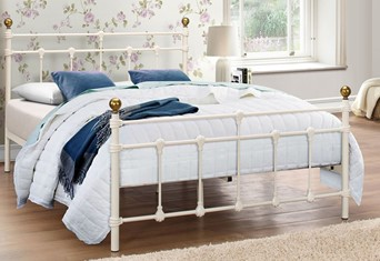 Atlas Metal Bedframe - Cream 4'6'' (135cm) Double
