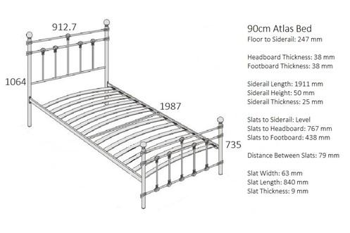 Atlas Metal Bedframe
