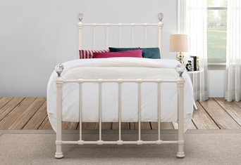Jessica Metal Bedframe - Cream