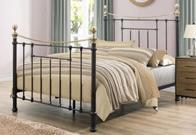 Bronte Metal Bed - 4'6'' Double Black