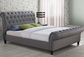 Castello Fabric Bed - 4'6'' Double Grey