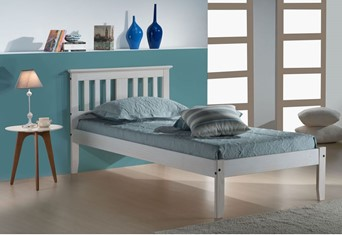 Salvador Wooden Bed - 3'0'' Single White Wash