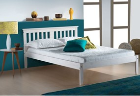 Salvador Wooden Bed - 4'6'' Double White Wash