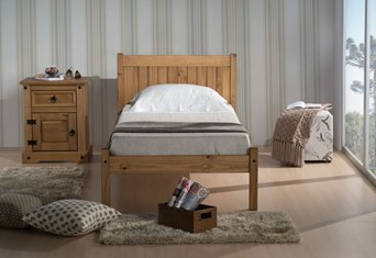 Rio Wooden Bed - 3'0'' Single Waxed Pine