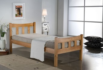 Miami Wooden Bed - 3'0'' Single