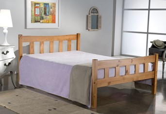 Miami Wooden Bed - 4'6'' Double