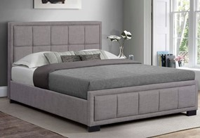 Hannover Fabric Bed - 4'6'' Double Grey