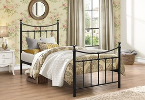 Emily Metal Bed - 3'0'' Single Black