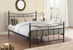 Emily Metal Bed - 4'6'' Double Black
