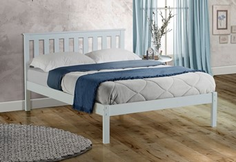 Denver Wooden Bed - 4'6'' Double White