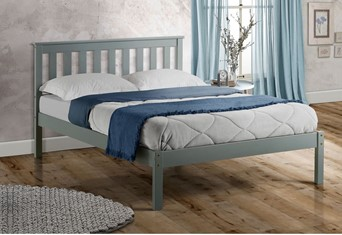 Denver Wooden Bed - 5'0'' Kingsize Grey