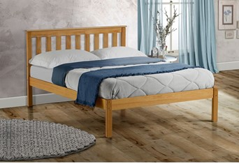 Denver Wooden Bed - 5'0'' Kingsize Antique Pine