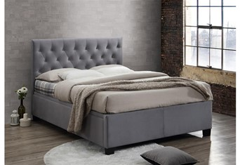 Cologne Fabric Ottoman - 5'0'' Kingsize Grey
