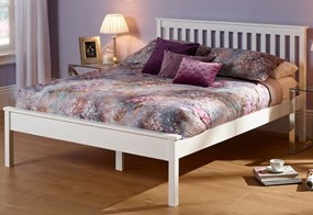 Heather Wooden Bedframe - 4'6'' Double Opal White