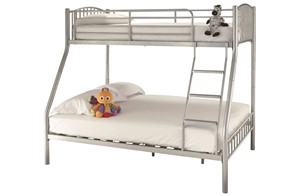 Oslo Metal Three Sleeper Bunk Bed