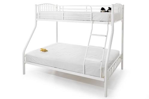 Oslo Metal Three Sleeper Bunk Bed