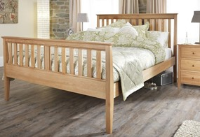 Salisbury Oak High Wooden Bedframe