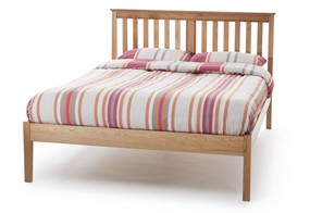 Salisbury Oak Low Wooden Bedframe