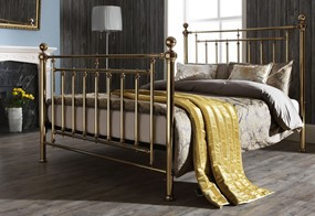 Solomon Metal Bedframe - 5'0'' Kingsize Brass