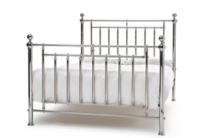 Solomon Metal Bedframe - 5'0'' Kingsize Nickel