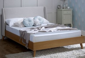 Bianca Oak & Fabric Bedframe