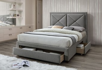Cezanne Fabric Storage Bed - 4'6'' Double Grey