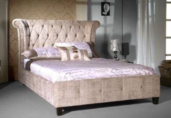 Epsilon Fabric Bedframe - 4'6' Double Mink