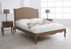 Genevieve Oak & Fabric Bedframe