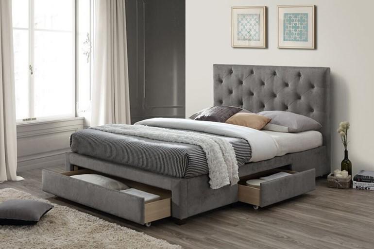 Monet Fabric Storage Bed