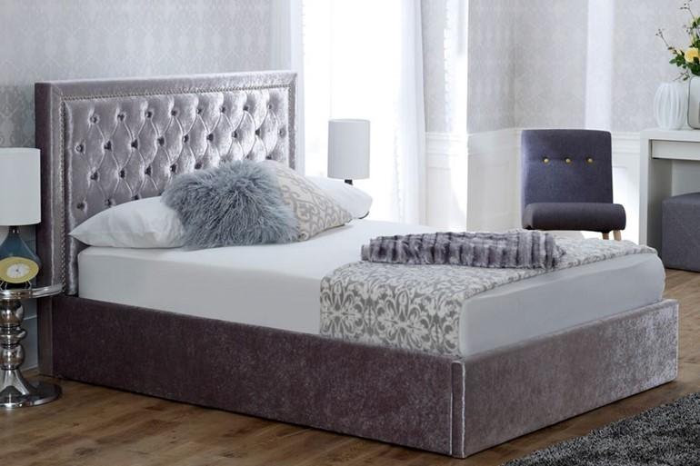 Rhea Fabric Ottoman