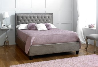 Rhea Fabric Bedframe - 6'0'' Superking Silver