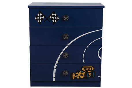Le Mans Racer 4 Drawer Chest
