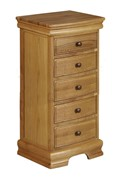 Grayson Oak 5 Drawer Tall Chest