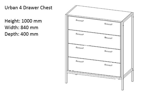 Urban Four Drawer Chest