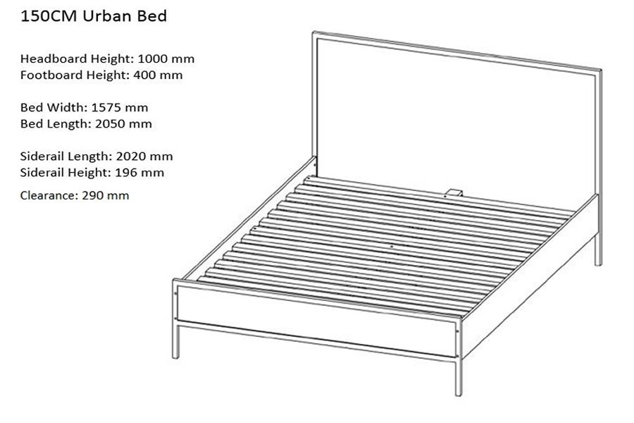 Urban Industrial Chic Metal And Wood Double Bed Frame