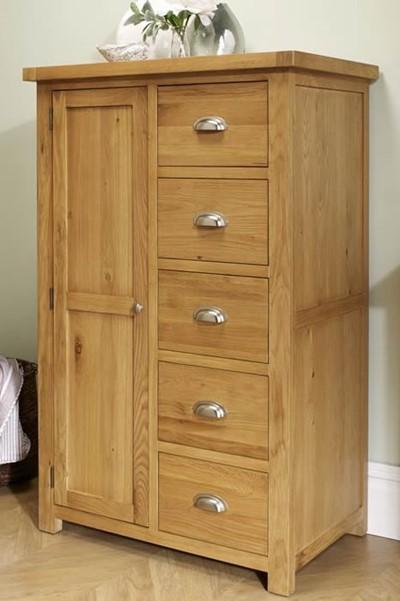 Woburn 1 Door 5 Drawer Robe