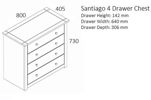 Santiago 4 Drawer Chest