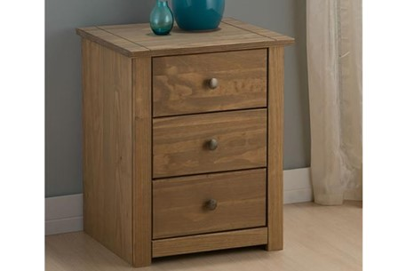 Santiago 3 Drawer Bedside