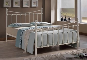 Florida Metal Bedframe - 4'0'' Small Double Ivory