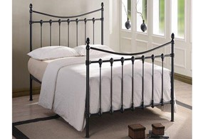 Florida Metal Bedframe - 3'0'' Single Black