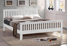 Turin Wooden Bedframe - Double 4'6'' (137cm) White