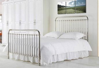 "Rose Metal Bed Frame - Single 3'0"" (90cm) Black Nickel"