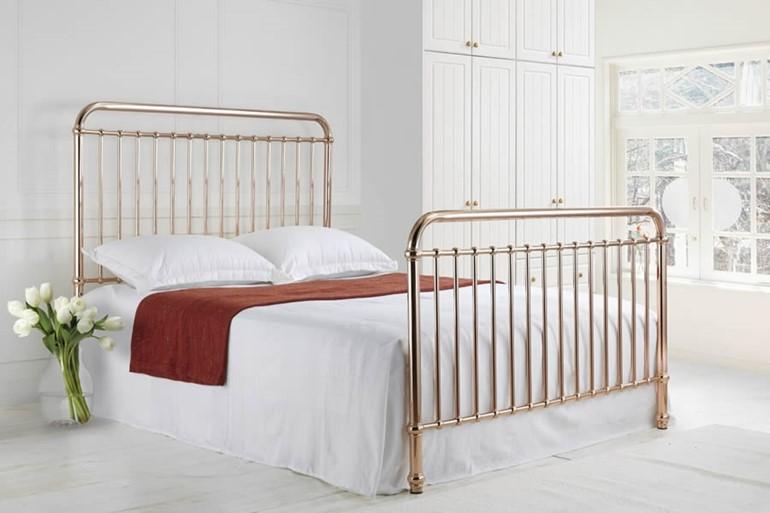Rose Metal Bed Frame