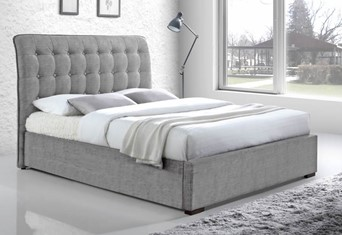 Hamilton Fabric Bedframe - 4'6'' Double Light Grey