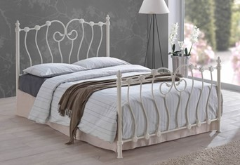 Inova Metal Bedframe - 4'0'' Small Double Ivory