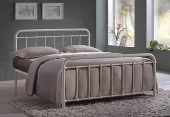 Miami Metal Bedframe - 4'6'' Double Ivory
