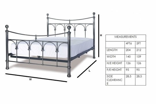 Gamma Metal Bedframe