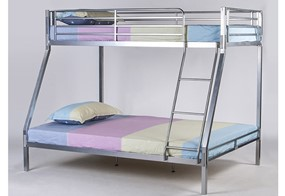 Boltless Metal Triple Bunk Bed