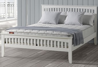 Freya Wooden Bedframe - 4'6'' Double White