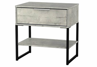 Diego Concrete Single 1 Drawer Locker
